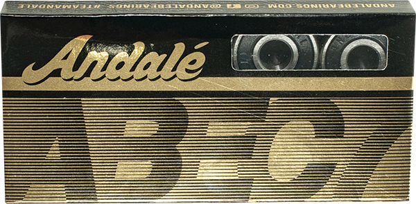 ANDALE ABEC-7 BEARINGS SINGLE SET BLK