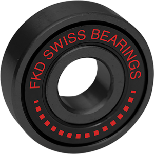 FKD SWISS BLACK BEARING SET BLK/BLK W/RED