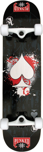 PUNKED ACE OF SPADES COMPLETE-7.75 BLACK