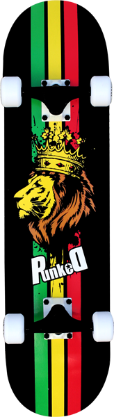 PUNKED RASTA LION COMPLETE-7.75  ppp