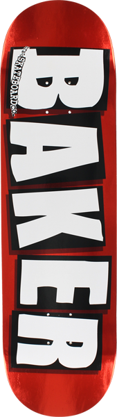 BAKER BRAND LOGO FOIL DECK-8.0 RED