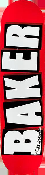 BAKER BRAND LOGO DECK-7.56 RED/WHT