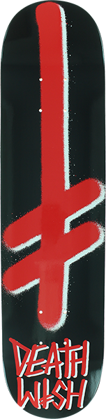 DEATH WISH GANG LOGO DECK-8.0 BLK/RED