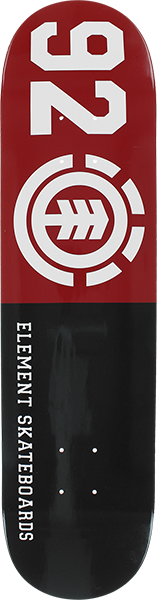 Element 92 CLASSIC DECK-8.0 BLK/RED/WHT
