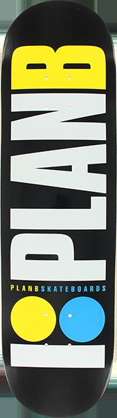 PLAN B OG NEON DECK-8.0 BLK/WHT/YEL/BLU