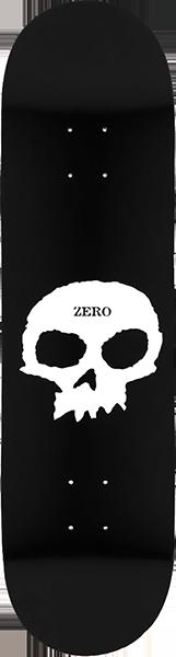 ZERO SINGLE SKULL DECK-8.5 BLK/WHT
