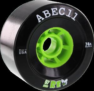 ABEC11 FLYWHEELS REFLY 97mm 74a BLACK/LIME x4
