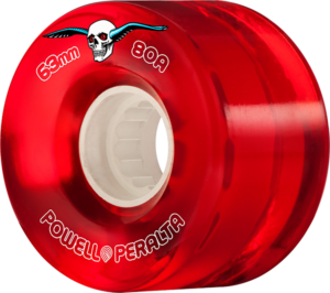 Powell Peralta CLEAR CRUISER 63mm 80a RED x4
