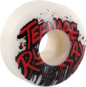TEENAGE RUNAWAY TRU BASIC LOGO WHT/RED/BLK x4