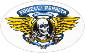 Powell Peralta WINGED RIPPER OG OVAL DECAL BLUE