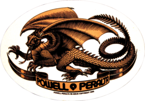 Powell Peralta OVAL DRAGON DECAL single