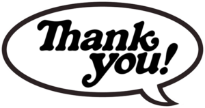 THANK YOU BUBBLE DECAL single