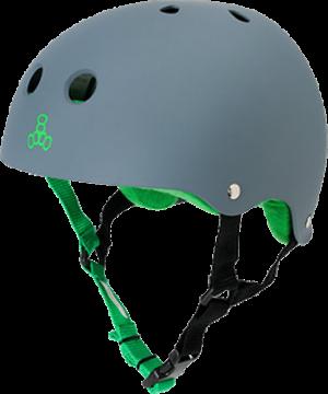 T8 HELMET CARBON RUBBER/GRN XL