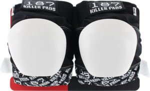 187 PRO KNEE PADS XL-BLK/WHT TEXT/WHT CAP
