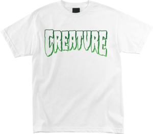 CREATURE LOGO OUTLINE SS S-WHITE