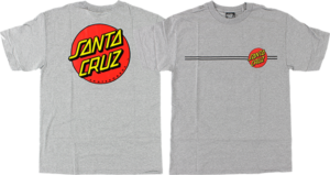 Santa Cruz CLASSIC DOT SS M-HEATHER GREY