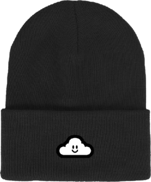 THANK YOU CLOUDY BEANIE BLACK