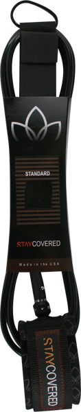 STAY COVERED STANDARD 7' LEASH BLACK