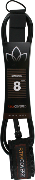 STAY COVERED STANDARD 8' LEASH BLACK