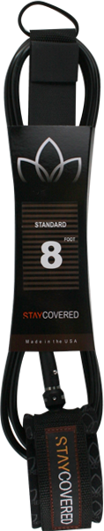 STAY COVERED STANDARD 9' LEASH BLACK