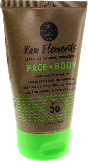 RAW ELEMENTS ECO FORMULA 30+ LOTION TUBE 3oz