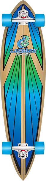 LAYBACK SOUL RIDE PINTAIL COMPLETE-9.75x40 BLUE