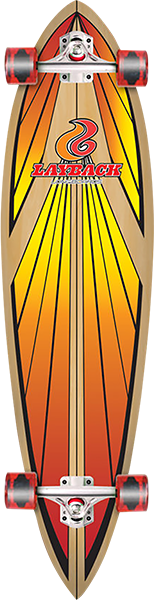 LAYBACK SOUL RIDE PINTAIL COMPLETE-9.75x40 RED