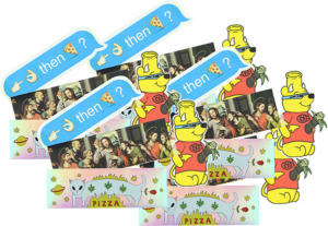 PIZZA STICKER PACK#2 20/PACK ASSORTED DECALS