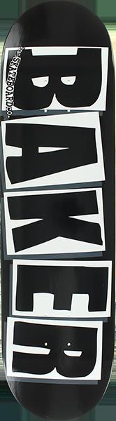 BAKER BRAND LOGO DECK-8.12 BLK/WHT