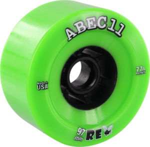 ABEC11 FLYWHEELS REFLY 97mm 77a LIME/BLK x4