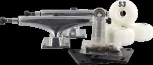 ESSENTIALS COMPONENT PACK 5.5 RAW W/53mm WHITE x2