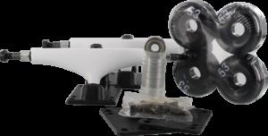 ESSENTIALS COMPONENT PACK 5.5 WHT/BLK W/53mm BLK x2