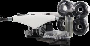 ESSENTIALS COMPONENT PACK 5.0 WHT/BLK W/52mm BLACK x2