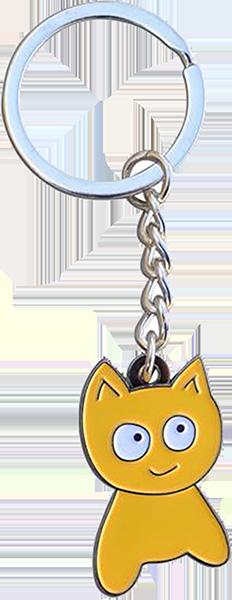 MEOW CAT KEYCHAIN