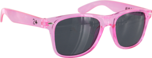 LOWCARD PARTY SHADES SUNGLASSES TRANSLUCENT PINK
