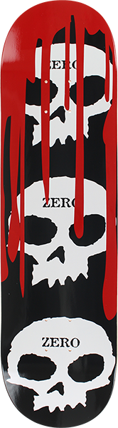 ZERO 3 SKULL WITH BLOOD DECK-8.0 BLK/WHT/RED