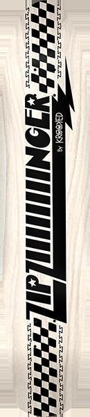 KROOKED ZIP ZIIIIINGER LB DECK -7.7x35.75 WHT/BLK