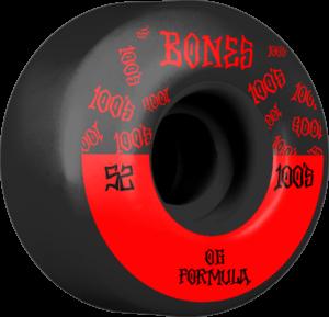 BONES 100's OG V4 #13 BLACK W/RED x4