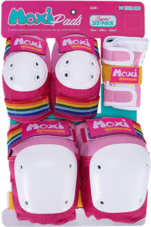 187 6-PACK PAD SET S/M-MOXI PINK