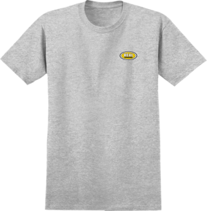 REAL OVAL SMALL LOGO SS ATH.HEATHER/YEL