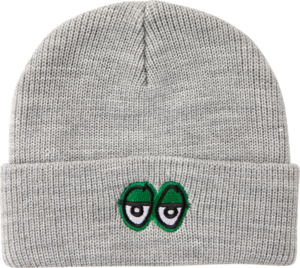 KRK EYES EMBLEM BEANIE HEATHER GREY/GRN