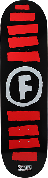 FOUND DOODLE STRIPE DECK BLK/WHT/RED ppp
