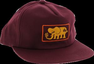 BLL ELEPHANT FRAME HAT ADJ-MAROON