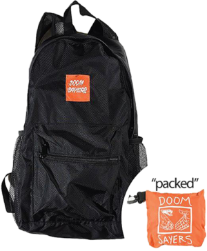 DOOM SAYERS PACKABLE TRAVEL BAG BLK/ORG