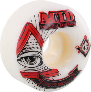 ACID REM PYRAMID 53mm 101a WHT x4