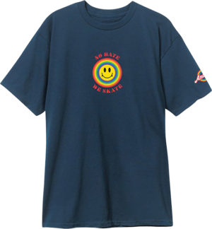 ANDALE NO HATE WE SKATE SMILES SS MIDNIGHT NAVY