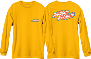 ANDALE NO HATE WE SKATE RAINBOW LOGO L/S GOLD