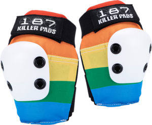 187 SLIM ELBOW PADS L-RAINBOW