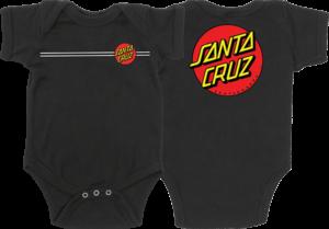 Santa Cruz CLASSIC DOT INFANT ONE PIECE TEE 6-MOS BLACK