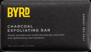 BYRD SOAP CHARCOAL EXFOLIATING BAR 5oz